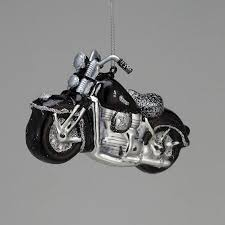 Get Quotations  Pack of 6 Glass Black and Silver Vintage-Style Motorcycle  Christmas Ornaments 5.25