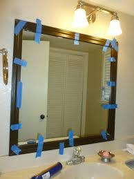 DIY Bathroom Mirror Frame The Diary of Mrs Match