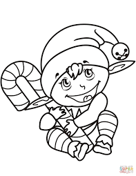 Elf On The Shelf Coloring Pages Free Download Best Elf On The