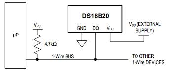 ds18b20 temperature sensor pinout specifications equivalents ds18b20 microcontroller circuit diagram