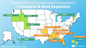 here are the most and least affordable states for home insurance gobankingrates
