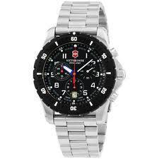 mens victorinox swiss army watch victorinox swiss army black dial stainless steel men s watch 241679