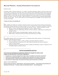 Example Profile For Resumes 10 Example Of Resume Profile Summary Payment Format
