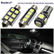 Mk5 Jetta Led Interior Lights Error Free Car Led Bulbs For Volkswagen For Vw Golf 4 5 6 7