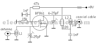 tv antenna amplifier circuit tv antenna amplifier circuit diagram