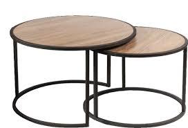 piece nested coffee table set walnut