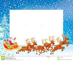 christmas santa borders and frames. Contemporary Christmas Border With Sleigh Of Santa Claus Throughout Christmas Borders And Frames A