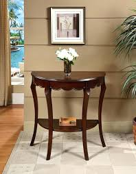half circle accent table half round console table adds flair to the living room interior half