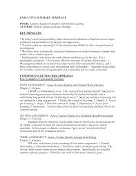Resume Executive Summary Example Executive Summary Example Resume Resume For Study 19