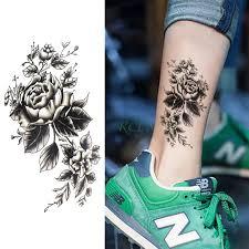 Vodotěsný Dočasné Tetování Nálepka Růže Květ Osobnosti Falešné