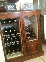 Le Cache Wine Cabinet Antique Icebox Transformed Into Wine Cabinet If I Ever Found One