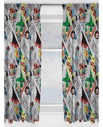 marvel comics retro curtains 54 drop