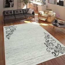 traditional rug cream grey fl pattern carpets small extra large room mat new