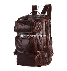 home leather rucksack