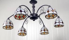 tiffany stijl chandelier stained glass