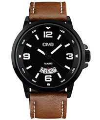 civo men s big face brown leather band wrist watch men waterproof civo men s big face brown leather band wrist watch men waterproof business casual dress watches water