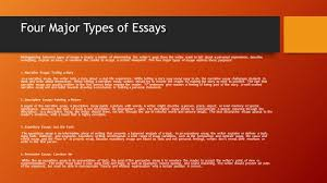 writing an effective essay ppt video online  four major types of essays