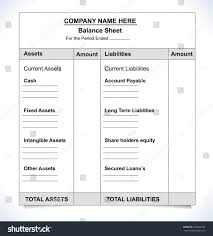 Format Balance Sheet Balance Sheet Format Unfill Paper Balance Stock Vector HD Royalty 20