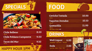 How To Design A Digital Menu Board Digital Menu Board Software
