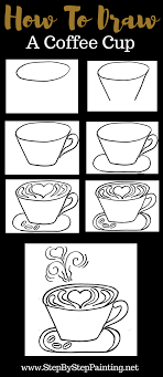 Download pdf how to draw kawaii cute animals + characters 3: How To Draw A Coffee Cup Step By Step Drawing Tutorial Step By Step Drawing Drawing Lessons For Kids Draw
