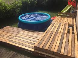 Decking Using Pallets Swimming Pool Pallet Deck O Pallet Ideas O 1001 Pallets