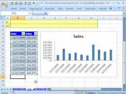 Dynamic Chart In Excel 2003 Excel Dynamic Chart 3 Table Feature Excel 2010 2007 List Feature Excel 2003