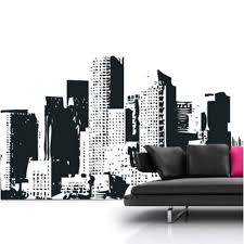 new york cityscape wall sticker beautiful new york city wall decal on new york skyline wall art stickers with new york cityscape wall sticker beautiful new york city wall decal