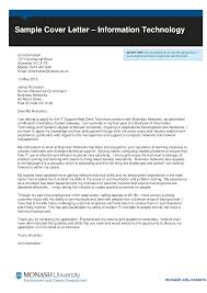 Technology Cover Letters Free Entry Level Information Technology Cover Letter Templates At