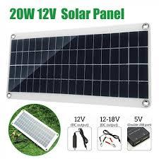 Outdoor <b>20W 12V</b> Car Boat Yacht <b>Solar Panel</b> Trickle Battery ...