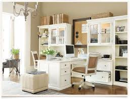 neutral home office ideas.  Home Neutral Home Office With Partners Desk Intended Home Office Ideas