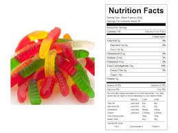 orted mini bulk gummy worms nutritional facts