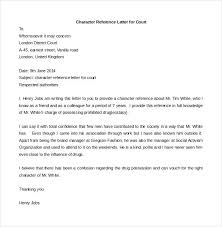 Sample Character Reference Letter 6 Documents In Word Free To Judge