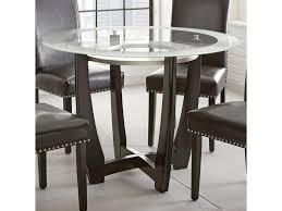 Steve Silver Verano Contemporary 45 Round Glass Top Dining Table