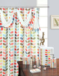 Geometric Fabric Shower Curtains Pale White Curtain Red Fabric