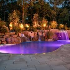 swimming pool lighting design. Unique Pool Outdoor Swimming Pool Lighting Design Good Ideas Modern Designs And Plans   Inground Waterfall  For