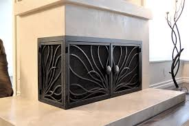 unique l shaped fireplace screen le
