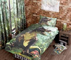 t rex dinosaur duvet cover and matching curtains jurassic world available in single and double bed sizes