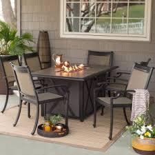 fire pit dining table. Belham Living Tulie 7 Piece Aluminum Fire Pit Patio Dining Set Table P