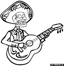 Small Picture Dia De Los Muertos Online Coloring Pages Page 1