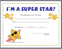 Award Templates Printable Super Star Award Certificates Templates