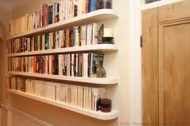 bed against wall in corner floating shelves morespoons 8a53b1a18d65