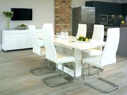 modern white dining room chairs norton rectangular high gloss table round natural marble sets chic