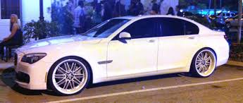 BMW 3 Series white 750 bmw : White BMW 750 with white rims | Exotic Cars on the Streets of Miami