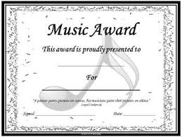 Making A Certificate Music Awards Editable Music Award Certificates Music Class
