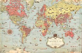 kids vintage world map muralswallpaper co uk
