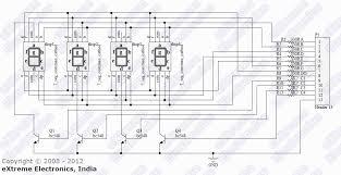 learn to use multiplexed seven segment displays avr including seven segment multiplexed display schematic