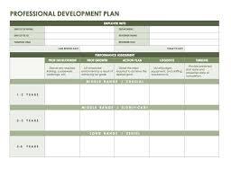 Professional Development Plan Templates Workout Plan