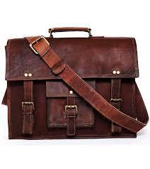 men dark brown leather vintage laptop messenger handmade briefcase bag satchel