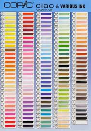 copic ciao color chart carta colores copic ciao copic pinterest copic markers and