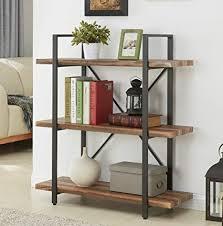 metal book shelves. Simple Metal Homissue 3Tier Industrial Bookcase Book Shelves Vintage Wood Metal  Bookshelves Retro Brown And Shelves L